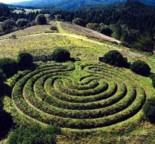 Cretan Labyrinth earth work